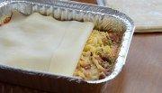 Lasanha com massa de pastel - Refeições congeladas