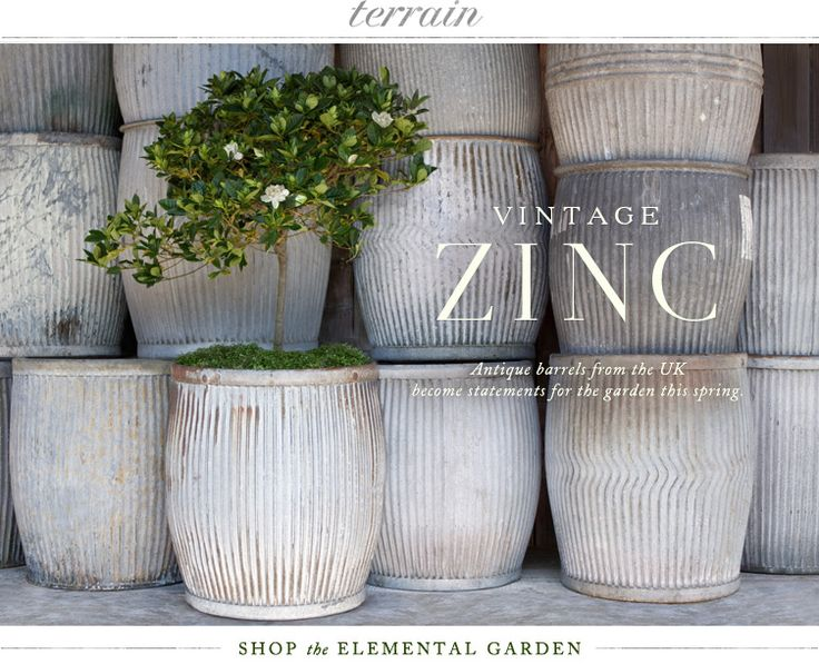 Vintage Zinc Barrel Galvanized And Corrugated In 2019