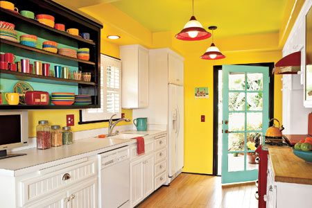 Like Fiesta ware?  Then try this colorful kitchen.