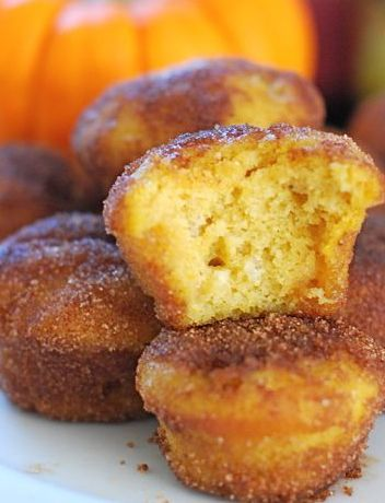 Baked Pumpkin Donut Holes | Dessert Recipes | Pinterest