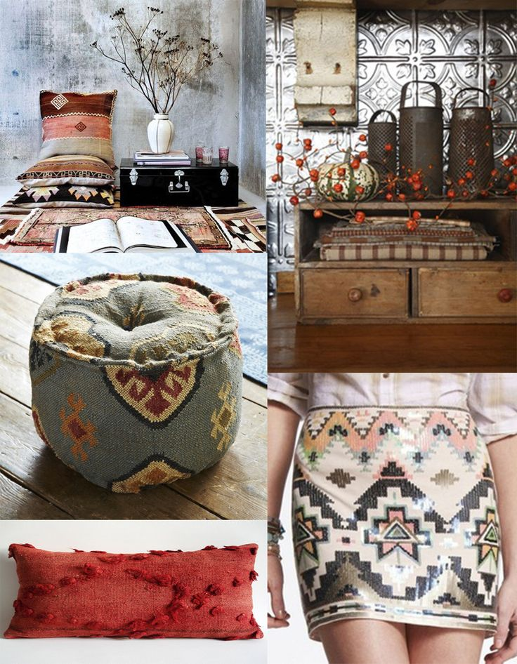 If you have lots of kilims and can' t stop having more, we have some inspirational ideas about what you can do with them such as complementing your home with ethno style pillows via @Muna Saba-Akleh Home Ltd blog