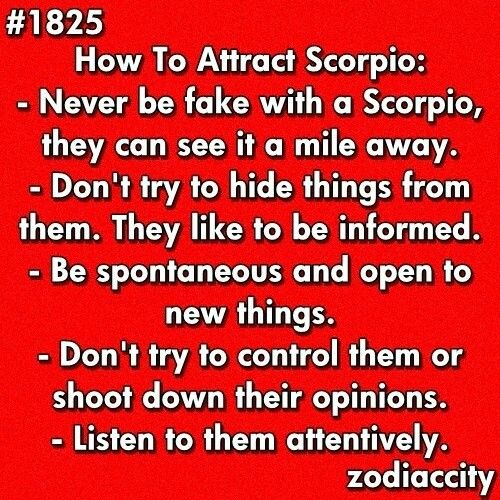 How to attract a scorpio female