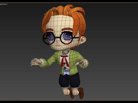 chibi / anime character; Rigging and Skinning 3ds max