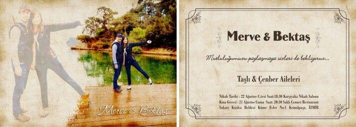 Özel düğün davetiyesi tasarımı.... mutluluklar dileriz...