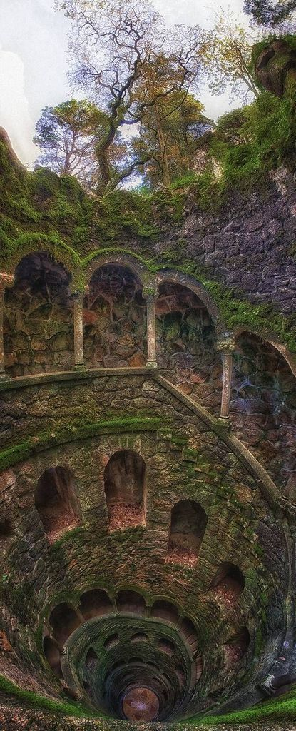 The well is located in the estate of Initiation Quinta da Regaleira in Sintra in Portugal.  Amazing!