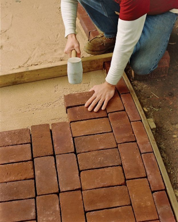 Brick Path, Easy DIY Backyard Projects And Garden Ideas