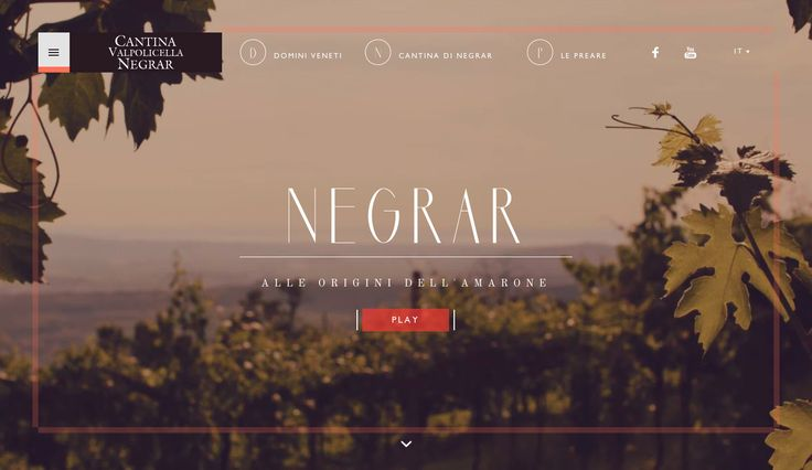 Cantina Valpolicella Negrar by AQuest. July 30, 2014. #webdesign #inspiration #UI #SOTD