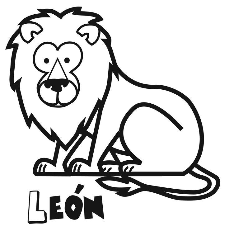 Dibujos de león para imprimir y colorear. Dibujos de animales.