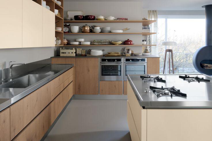 17 migliori idee su cucine in rovere su pinterest armadi for Piani di fattoria vecchio stile