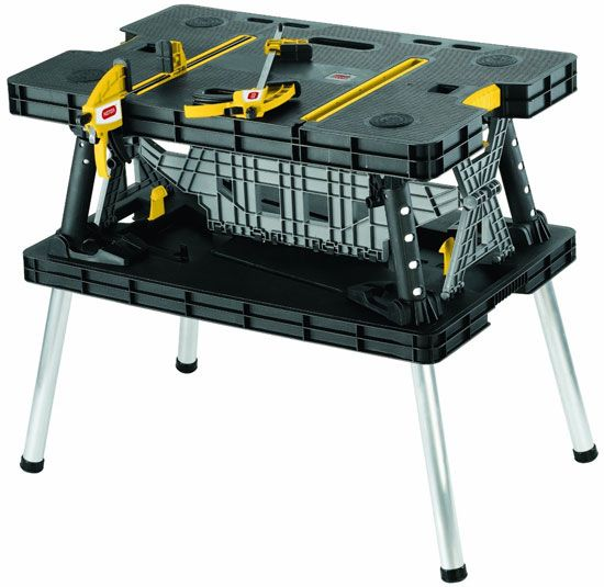 Keter Folding Workbench - This table is crazy helpful around the house for DIY projects and it's quick set up makes it a definite must have.