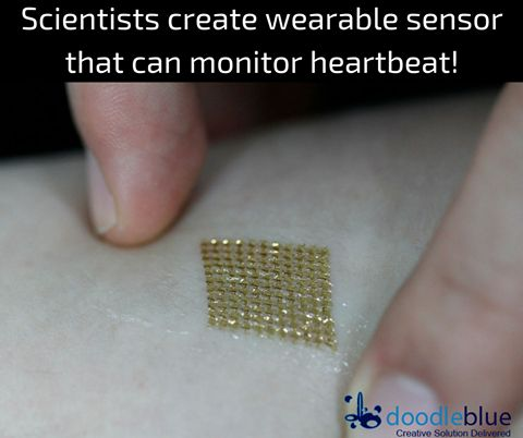 Scientists create #wearable sensor that can monitor heartbeat   Scientists have created a small #stickon #wearable sensor that can monitor a user's heartbeat. The miniature #stethoscope can pick up the motion of sound waves as they travel through the flesh and fluids of the body. Check it out below!  http://www.theverge.com/2016/11/16/13655508/wearable-stethoscope-stick-on-temporary-tattoo-heart-voice