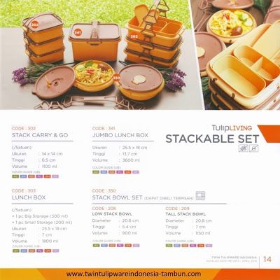 Stackable Set Twin Tulipware | Tulip Living