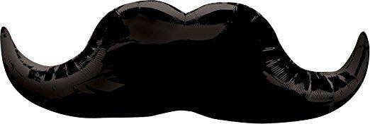 Anagram 2769601 - Party und Dekoration - Folienballon Super Shape - schwarzer Schnurrbart, circa 30 x 88 cm