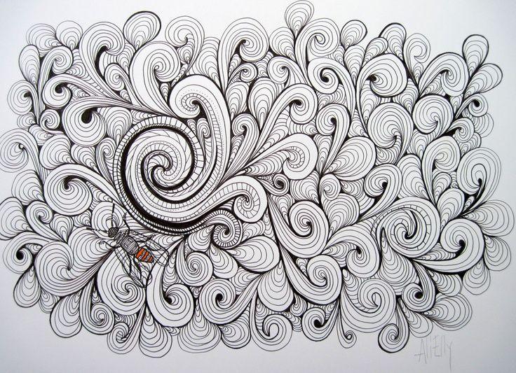 """A Curl"" Eredeti toll és tinta rajz"