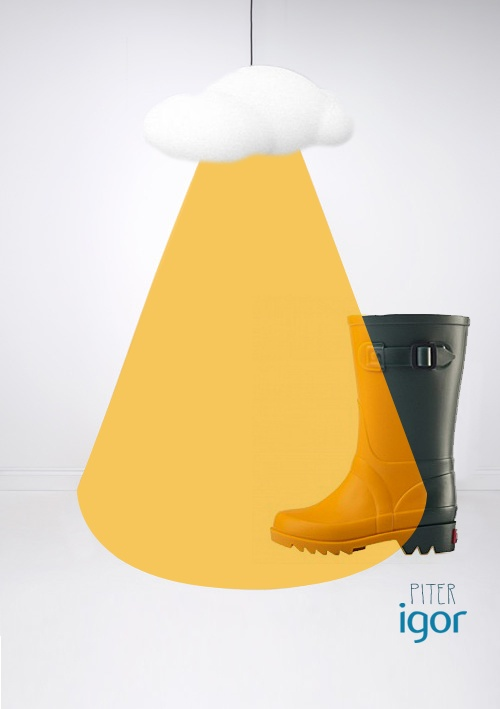 #igorkids #rainboots #water #colours #trends #piter #rain, #botas #agua #niños #invierno #2013 #lampara #nube #cloud