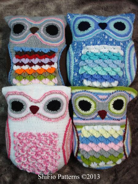Free Crochet Owl Cushion Pillow Pattern : CROCHET PATTERN For Owl Cushion / Pillow Owl Pyjama Case ...