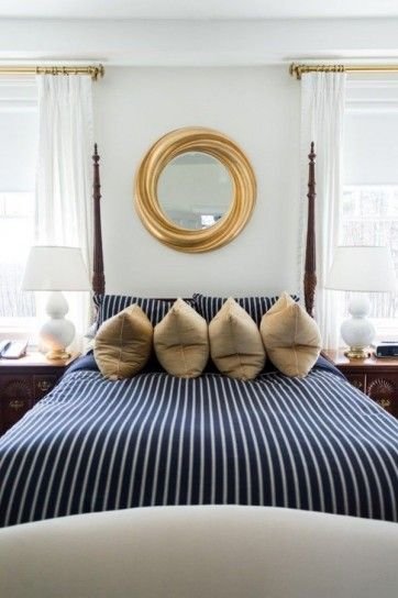 17 migliori idee su camera a righe su pinterest camere - Letto stile marina ...