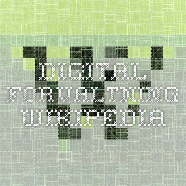 Digital Forvaltning - Wikipedia