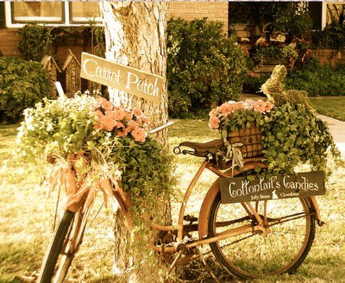 Upcycling Bikes in the Garden - 14 Ideas for Bicycle Planters
