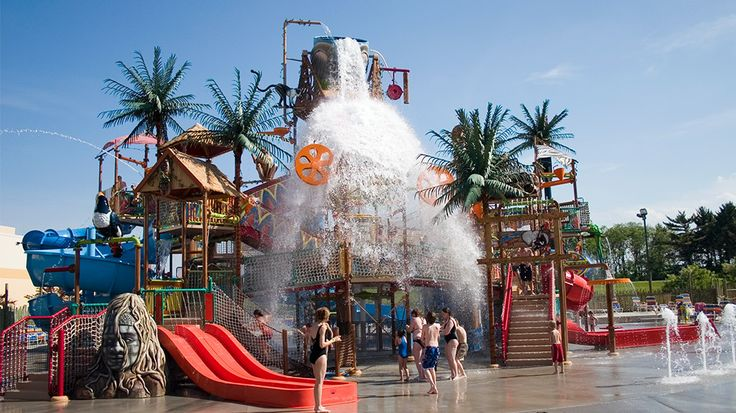 At the Kalahari Resort, guests can enjoy the indoor water park or the Zambezi Outdoor Waterpark. The indoor water park has 125,000 square feet of fun that includes the Victoria Falls family raft ride, spas, a wave pool and FlowRider, where guests can boogie board every day of the year. Open Memorial Day to Labor Day, the outdoor water park features fun slides and areas like the Swahili Swirl, the Anaconda Experience and Splashdown Safari (pictured).