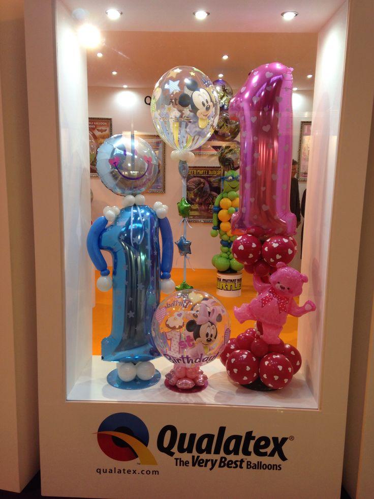 Balloon shop window display.