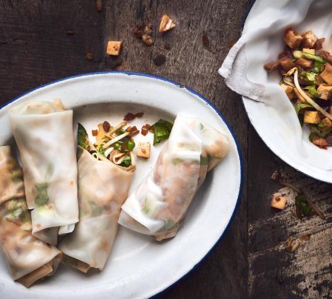 Involtini primavera vietnamiti con tofu