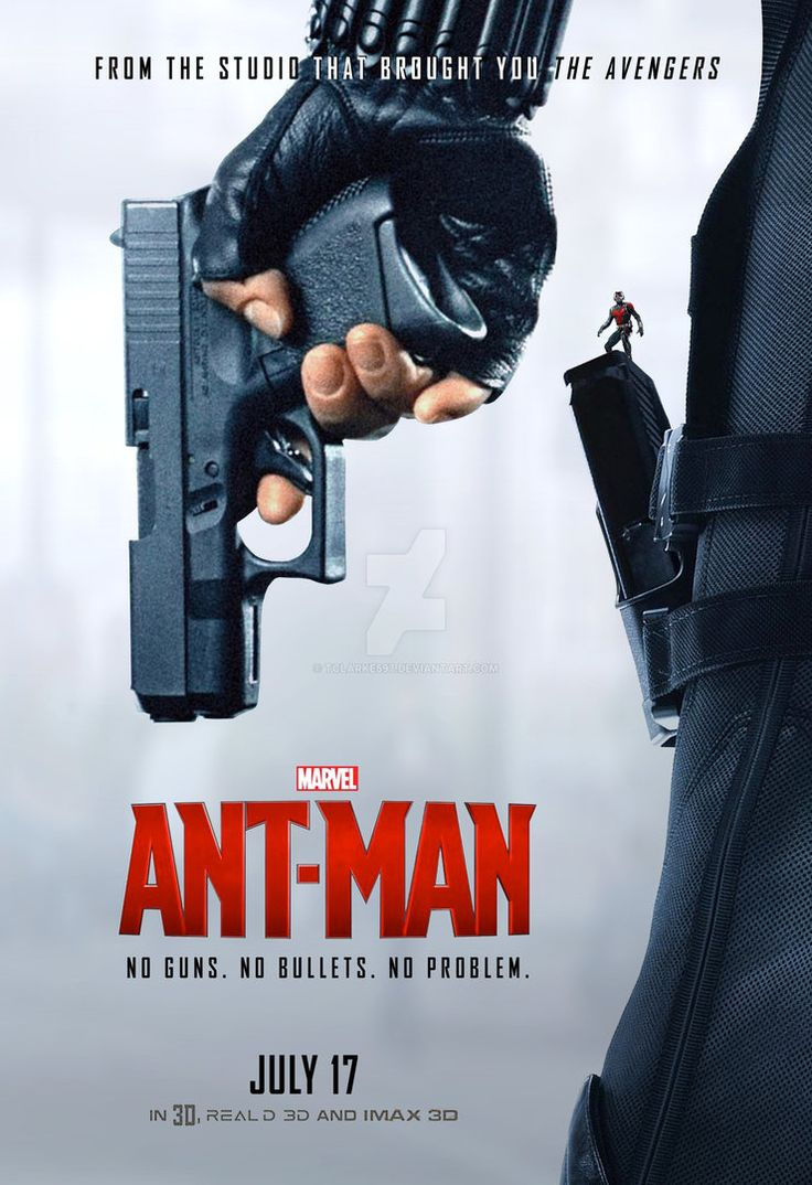 Initially I wanted to have Ant-Man running along the barrel of Black Widow's gun, but after several attempts I hesitantly had to concede that the stock imagery I was using just wasn't large enough....