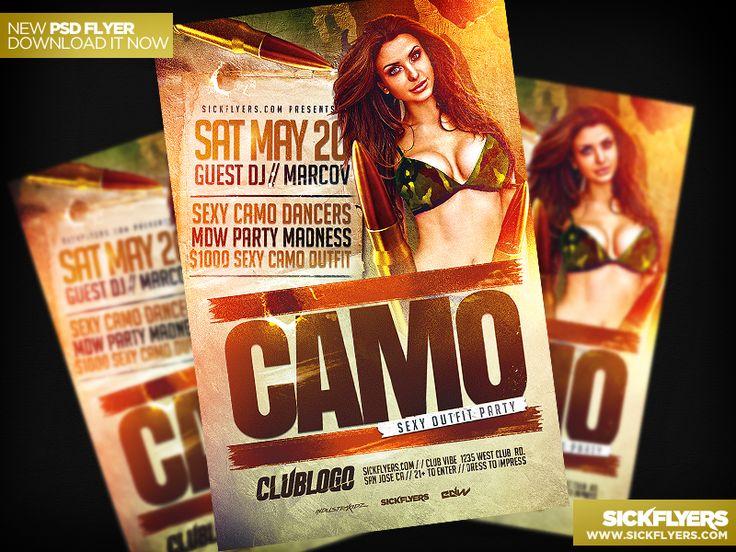 Camo Party Flyer Template PSD by Industrykidz.deviantart.com on @deviantART