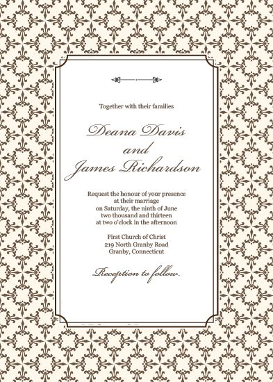 free pdf download stately frame invitation template with matching rsvp and thank you cards