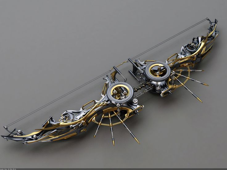 Heretic Composite Bow: Top view by Samouel on @DeviantArt
