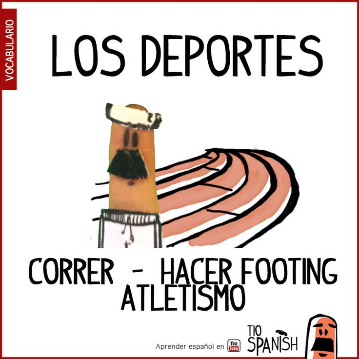 Running, Athletics : Correr / hacer footing, Atletismo - Sports in Spanish, vocabulary