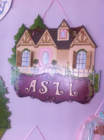 Ahşap Kapı süsü,Bebek Odası kağı süsü, el boyaması özel hastane kapı süsü