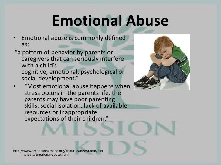 emotional child abuse essays Before going in depth with the effects that victims of emotional abuse and neglect present, we should know what exactly neglect, and emotional abuse mean neglect is the failure to provide a child the basic needs, such as food, clothes, attention, and so on.