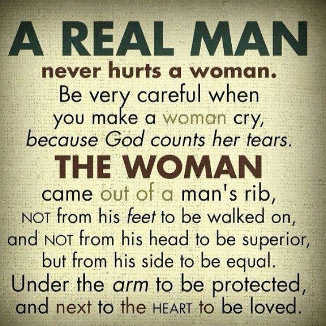 Quotes On Men And Women: A REAL MAN Never Hurts A Woman...my Fathers Favorite Quote