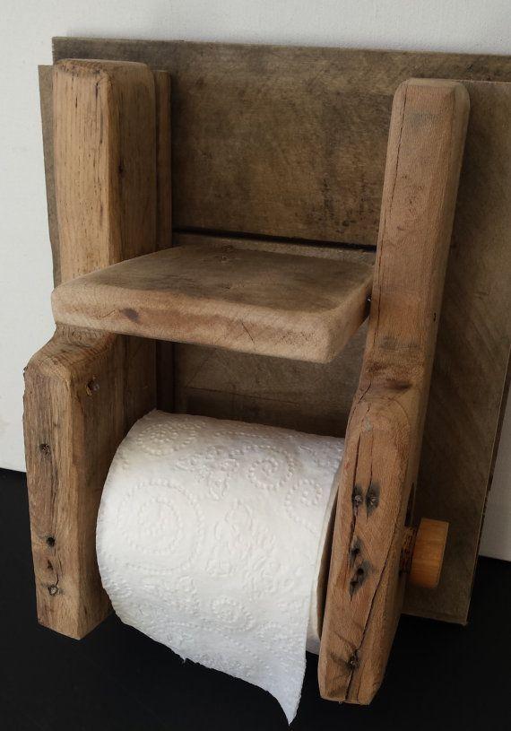 rustic toilet paper holder von auf etsy