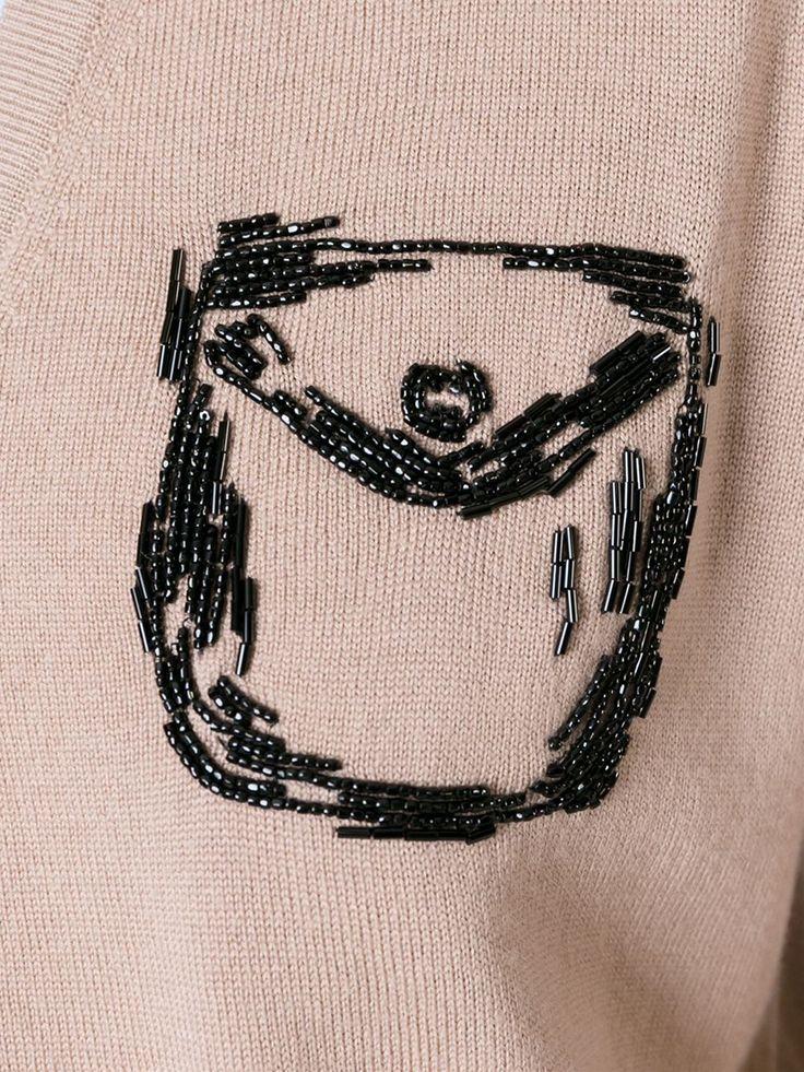 Nº21 embellished trompe l'oeil cardigan