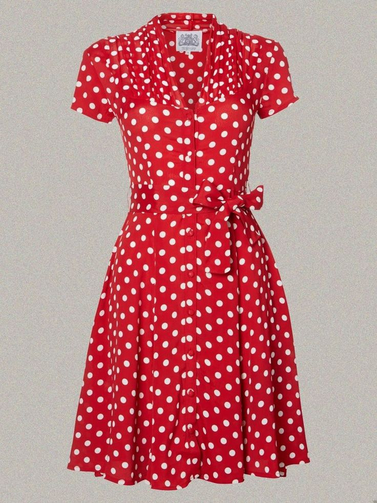 For image only. Lovely polka dots. Different treatment around the collar.