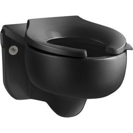 Kohler Stratton Black Black Elongated Height Toilet Bowl 4450-C-7