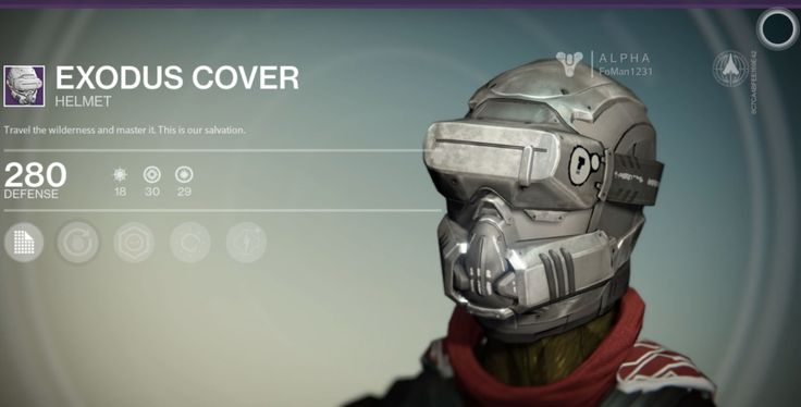 Exodus Cover is a Legendary Hunter Helmet manufactured by Dead Orbit, and is part of the Exodus armor set. It can be purchased from Arach Jalaal. Travel the... #destiny