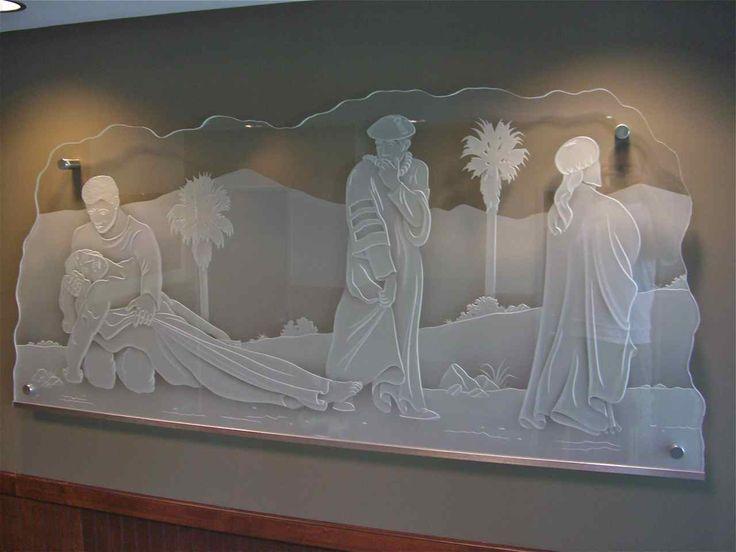 The Good Samaritan Glass Wall Art (Additional Piece) & 8 best Glass Wall Art images on Pinterest | Glass wall art Glass ...