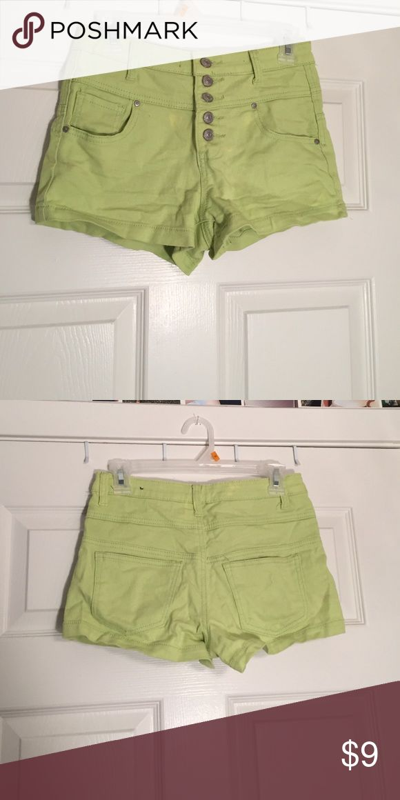 High waisted neon green shorts High waisted shorts, neon green, super comfy great for summer or spring! Shorts