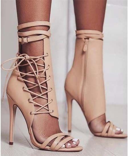 Shoes Heels Gladiator Sandals Snake Print Women Luxury Pvc Lace Up Shoes Summer Clear High Heels Slides Ladies Sexy Peep Toe Sandalias Mujer