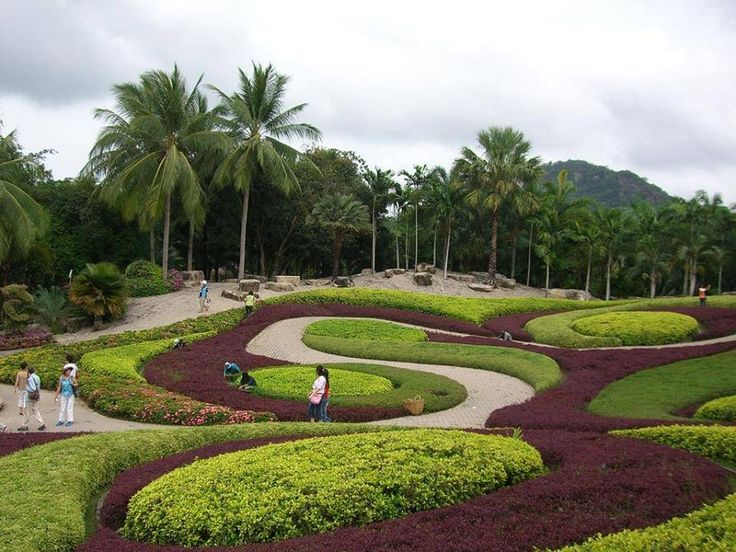 Landscape Architects Network - Artistic use of power tools. Image: Tropical Garden Nong Tooch in Thailand.