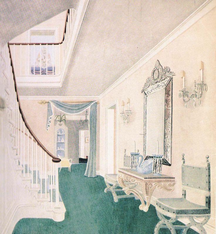 """""""Regency by Peter Jones""""; Norman Hartnell makes light of his grand country home 'Lovel Dene'"""