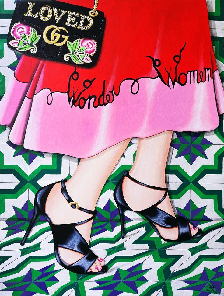 Wonder Women acrylic on canvas 80x60 cm 2017
