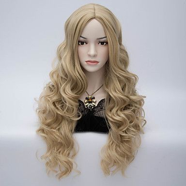 Long Wave Synthetic Wig Womens' Neat Bang Hair High Quality synthetic Wigs - GBP £ 17.74