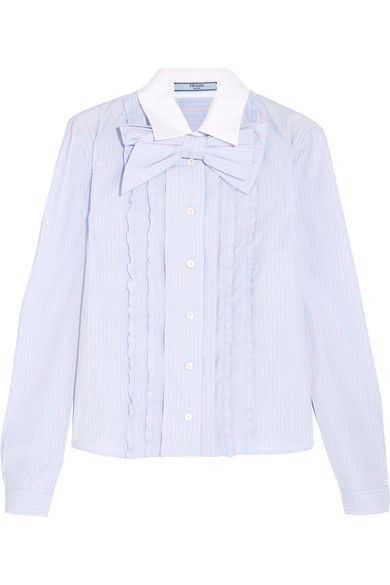 Sky-blue, pink and white cotton Button fastenings through front 100% cotton Dry clean Shell: Indonesia Made in Italy