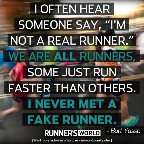 You are a runner! .