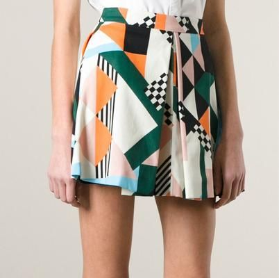 lovely summer skirt #MSGM #farfetch #skirt #cute #covetme