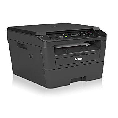Brother DCP-L2520DW - Impresora multifunción láser monocromo (impresión automática a doble cara, WiFi), color negro